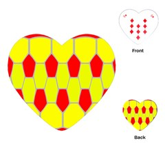 Football Blender Image Map Red Yellow Sport Playing Cards (heart)  by Alisyart