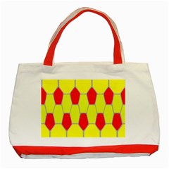Football Blender Image Map Red Yellow Sport Classic Tote Bag (red) by Alisyart