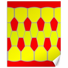 Football Blender Image Map Red Yellow Sport Canvas 16  X 20   by Alisyart