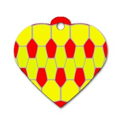 Football Blender Image Map Red Yellow Sport Dog Tag Heart (two Sides) by Alisyart