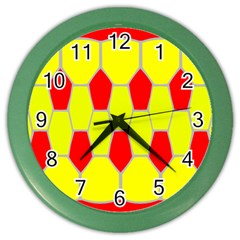 Football Blender Image Map Red Yellow Sport Color Wall Clocks by Alisyart