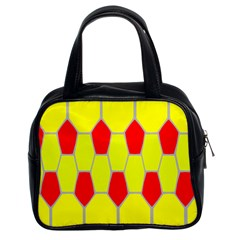 Football Blender Image Map Red Yellow Sport Classic Handbags (2 Sides) by Alisyart