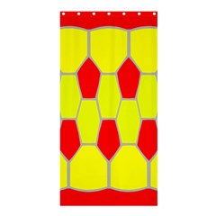 Football Blender Image Map Red Yellow Sport Shower Curtain 36  X 72  (stall)  by Alisyart