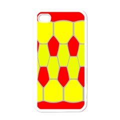 Football Blender Image Map Red Yellow Sport Apple Iphone 4 Case (white)