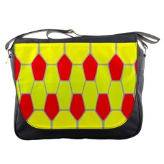 Football Blender Image Map Red Yellow Sport Messenger Bags by Alisyart