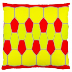 Football Blender Image Map Red Yellow Sport Large Cushion Case (one Side) by Alisyart