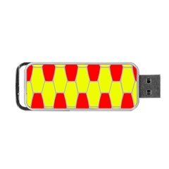 Football Blender Image Map Red Yellow Sport Portable Usb Flash (one Side)