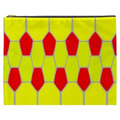 Football Blender Image Map Red Yellow Sport Cosmetic Bag (xxxl)