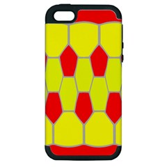 Football Blender Image Map Red Yellow Sport Apple Iphone 5 Hardshell Case (pc+silicone)