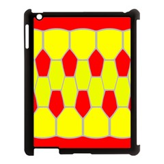 Football Blender Image Map Red Yellow Sport Apple Ipad 3/4 Case (black) by Alisyart