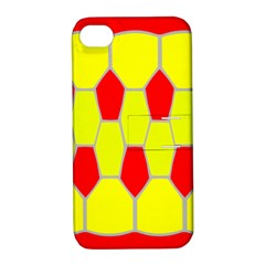 Football Blender Image Map Red Yellow Sport Apple Iphone 4/4s Hardshell Case With Stand