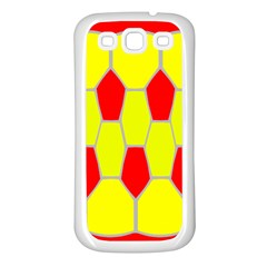 Football Blender Image Map Red Yellow Sport Samsung Galaxy S3 Back Case (white)