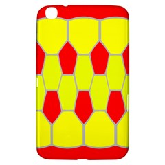 Football Blender Image Map Red Yellow Sport Samsung Galaxy Tab 3 (8 ) T3100 Hardshell Case  by Alisyart