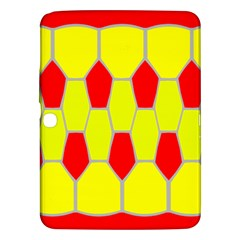 Football Blender Image Map Red Yellow Sport Samsung Galaxy Tab 3 (10 1 ) P5200 Hardshell Case