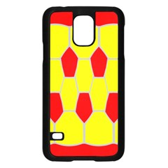 Football Blender Image Map Red Yellow Sport Samsung Galaxy S5 Case (black)