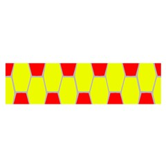 Football Blender Image Map Red Yellow Sport Satin Scarf (oblong)