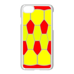 Football Blender Image Map Red Yellow Sport Apple Iphone 7 Seamless Case (white) by Alisyart