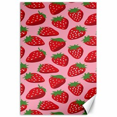 Fruit Strawbery Red Sweet Fres Canvas 20  X 30   by Alisyart