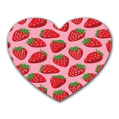 Fruit Strawbery Red Sweet Fres Heart Mousepads by Alisyart