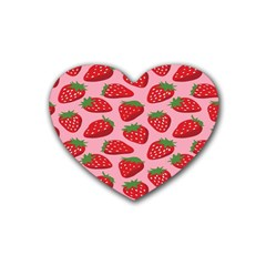 Fruit Strawbery Red Sweet Fres Heart Coaster (4 Pack)  by Alisyart
