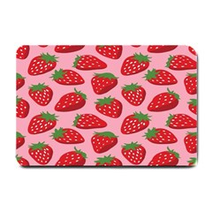 Fruit Strawbery Red Sweet Fres Small Doormat  by Alisyart