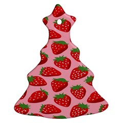 Fruit Strawbery Red Sweet Fres Christmas Tree Ornament (two Sides)