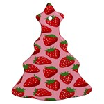 Fruit Strawbery Red Sweet Fres Christmas Tree Ornament (Two Sides) Back