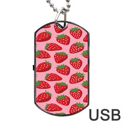 Fruit Strawbery Red Sweet Fres Dog Tag Usb Flash (one Side) by Alisyart