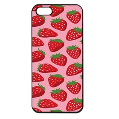 Fruit Strawbery Red Sweet Fres Apple Iphone 5 Seamless Case (black)