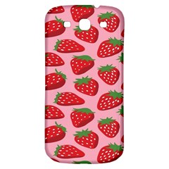 Fruit Strawbery Red Sweet Fres Samsung Galaxy S3 S Iii Classic Hardshell Back Case by Alisyart