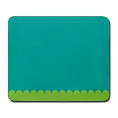 Green Blue Teal Scallop Wallpaper Wave Large Mousepads