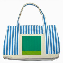 Green Blue Teal Scallop Wallpaper Wave Striped Blue Tote Bag by Alisyart