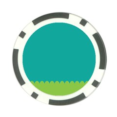 Green Blue Teal Scallop Wallpaper Wave Poker Chip Card Guard (10 Pack)