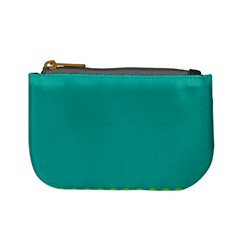 Green Blue Teal Scallop Wallpaper Wave Mini Coin Purses