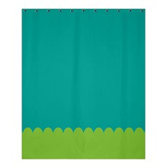Green Blue Teal Scallop Wallpaper Wave Shower Curtain 60  X 72  (medium)