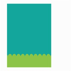 Green Blue Teal Scallop Wallpaper Wave Small Garden Flag (two Sides) by Alisyart