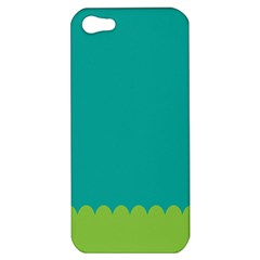 Green Blue Teal Scallop Wallpaper Wave Apple Iphone 5 Hardshell Case by Alisyart
