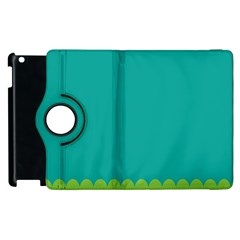 Green Blue Teal Scallop Wallpaper Wave Apple Ipad 3/4 Flip 360 Case by Alisyart