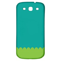 Green Blue Teal Scallop Wallpaper Wave Samsung Galaxy S3 S Iii Classic Hardshell Back Case by Alisyart
