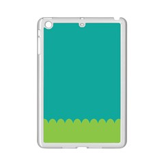 Green Blue Teal Scallop Wallpaper Wave Ipad Mini 2 Enamel Coated Cases