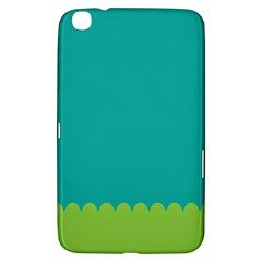 Green Blue Teal Scallop Wallpaper Wave Samsung Galaxy Tab 3 (8 ) T3100 Hardshell Case  by Alisyart