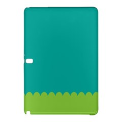 Green Blue Teal Scallop Wallpaper Wave Samsung Galaxy Tab Pro 10 1 Hardshell Case by Alisyart