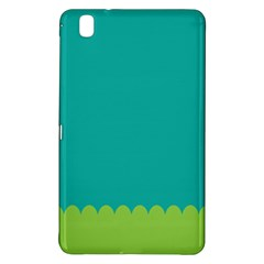 Green Blue Teal Scallop Wallpaper Wave Samsung Galaxy Tab Pro 8 4 Hardshell Case by Alisyart