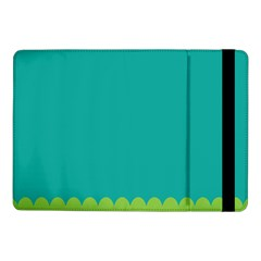 Green Blue Teal Scallop Wallpaper Wave Samsung Galaxy Tab Pro 10 1  Flip Case by Alisyart