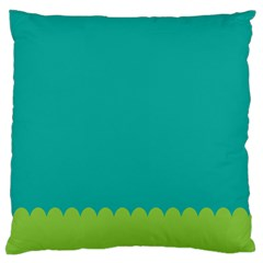 Green Blue Teal Scallop Wallpaper Wave Standard Flano Cushion Case (two Sides)