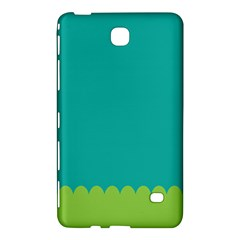 Green Blue Teal Scallop Wallpaper Wave Samsung Galaxy Tab 4 (7 ) Hardshell Case  by Alisyart