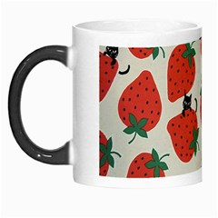 Fruit Strawberry Red Black Cat Morph Mugs by Alisyart