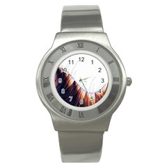 Abstract Lines Stainless Steel Watch by Simbadda