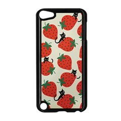 Fruit Strawberry Red Black Cat Apple Ipod Touch 5 Case (black) by Alisyart