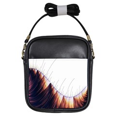 Abstract Lines Girls Sling Bags